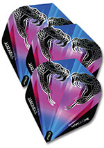 Flight-Set Polyester extra strong Standard Snakebite Black Peter Wright
